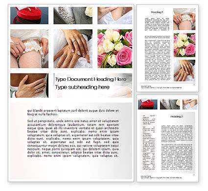 Wedding Det Word Template, 10655, Holiday/Special Occasion — PoweredTemplate.com
