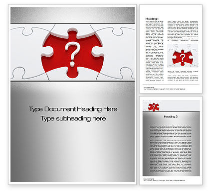 Consulting: Finding Solution Word Template #10658