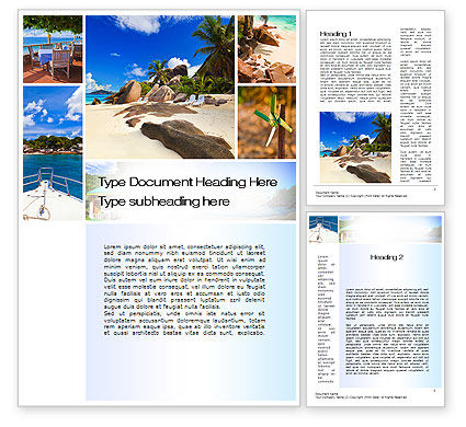 Summer Collage Word Template, 10673, Careers/Industry — PoweredTemplate.com