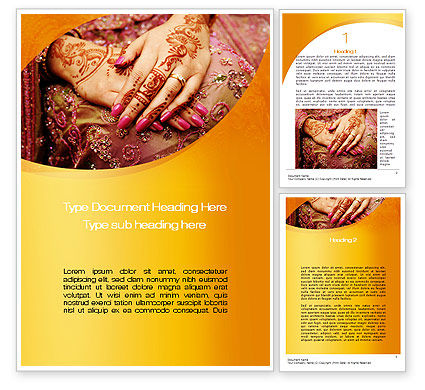 Mehndi Designs Word Template 10681 Poweredtemplate Com