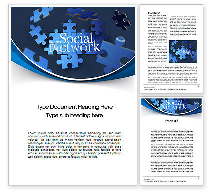 Building Social Network Word Template, 10682, Careers/Industry — PoweredTemplate.com