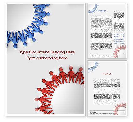 Business Concepts: 워드 템플릿 - 인간 기어 #10683