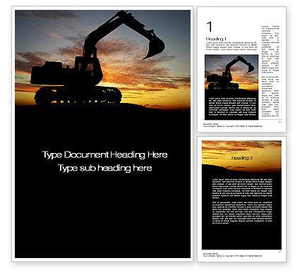 Utilities/Industrial: Excavating Contractor Word Template #10684
