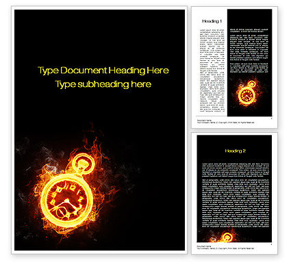 Business Concepts: Deadline Concept Word Template #10689