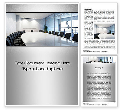 Executive Conference Room Word Template, 10692, Business — PoweredTemplate.com