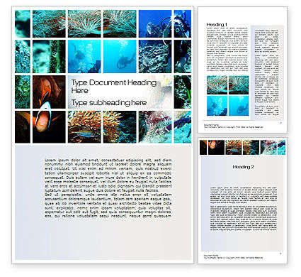 Scuba Diving Lessons Word Template, 10693, Education & Training — PoweredTemplate.com
