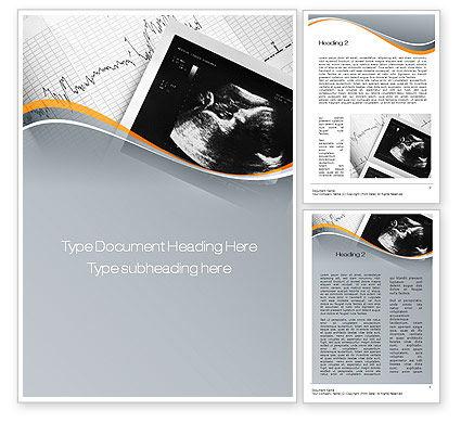 Fetal Non-Stress Test Word Template, 10696, Medical — PoweredTemplate.com