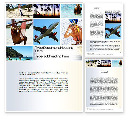 Vacation Collage Word Template, 10699, Careers/Industry — PoweredTemplate.com