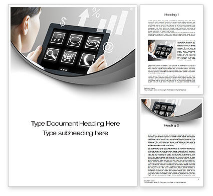 Business Concepts: Tablet PC Word Template #10700