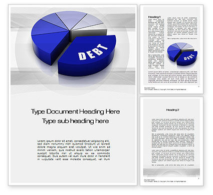 Financial/Accounting: Debt Pie Chart Word Template #10701