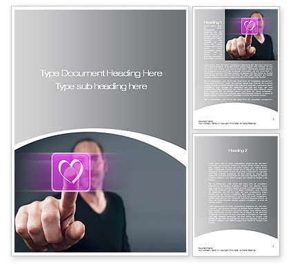 Technology, Science & Computers: Virtual Love Word Template #10702