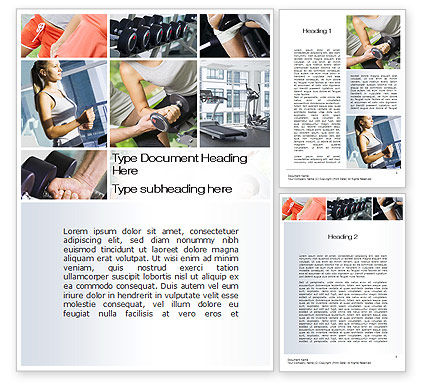 Fitness Collage Word Template, 10704, People — PoweredTemplate.com
