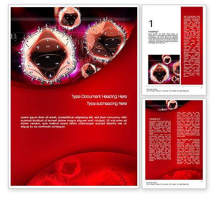 Medical: Modèle Word de hiv #10705