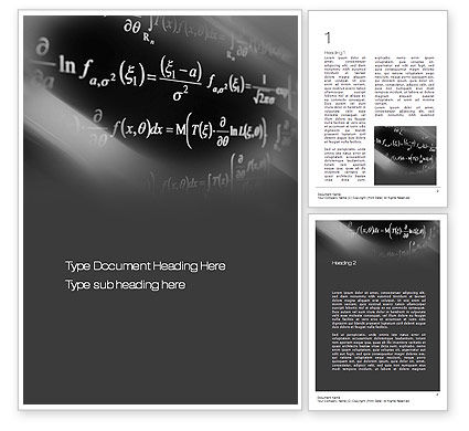 Education & Training: Equations Word Template #10711