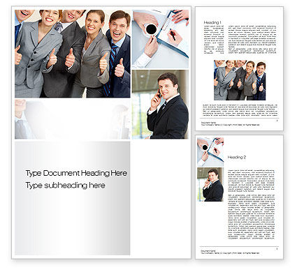 People: Team Development Word Template #10713