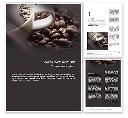 Coffee Beans Word Template, 10715, Food & Beverage — PoweredTemplate.com