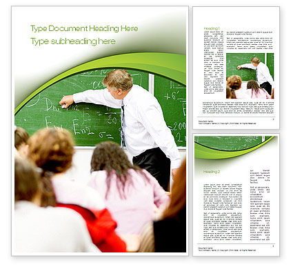 Education & Training: College Class Word Template #10716