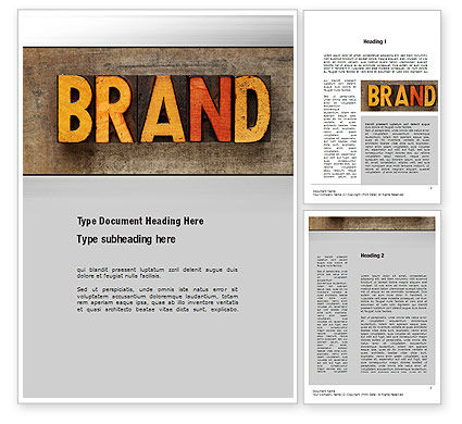 Company Brand Word Template, 10721, Careers/Industry — PoweredTemplate.com