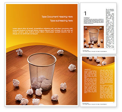 Shooting Paper Balls Word Template, 10723, Business Concepts — PoweredTemplate.com