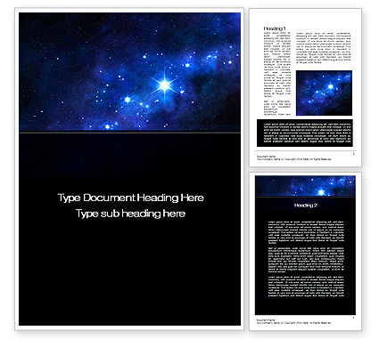 Constellation Word Template