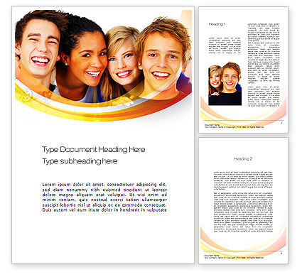High School Students Word Template, 10728, People — PoweredTemplate.com