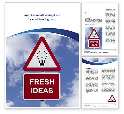 Fresh Ideas Word Template, 10731, Business Concepts — PoweredTemplate.com