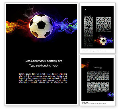 Fire Football Word Template, 10735, Sports — PoweredTemplate.com