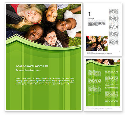 College Students Word Template, 10736, People — PoweredTemplate.com