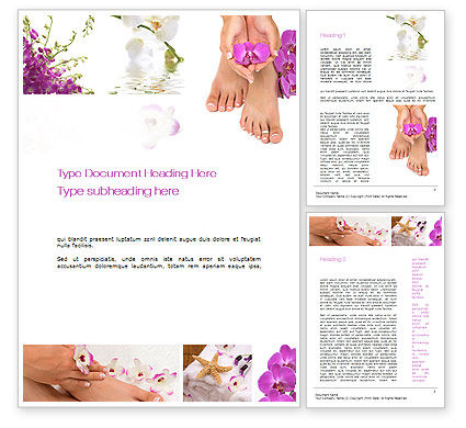 Nail Spa Word Template, 10744, Careers/Industry — PoweredTemplate.com