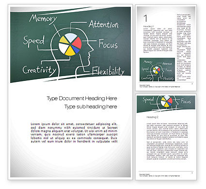Brain Health Word Template, 10751, Medical — PoweredTemplate.com