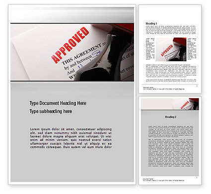 Approved Word Template, 10758, Legal — PoweredTemplate.com