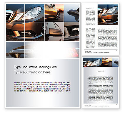 Careers/Industry: Car Exterior Design Word Template #10763
