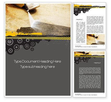 Careers/Industry: Pressure Washing Word Template #10769