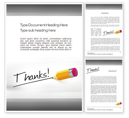 Thanks Word Template, 10770, Business Concepts — PoweredTemplate.com