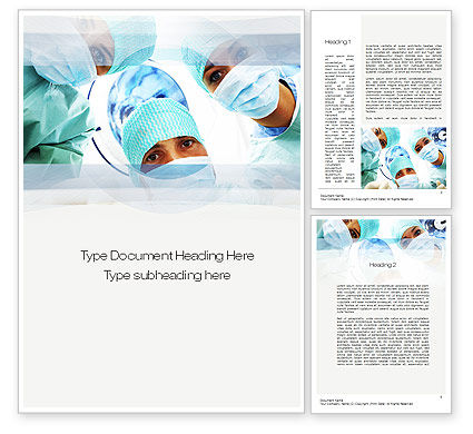 Medical: Surgeons Word Template #10775