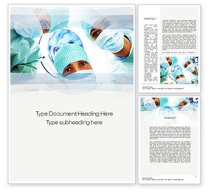 Surgeons Word Template, 10775, Medical — PoweredTemplate.com