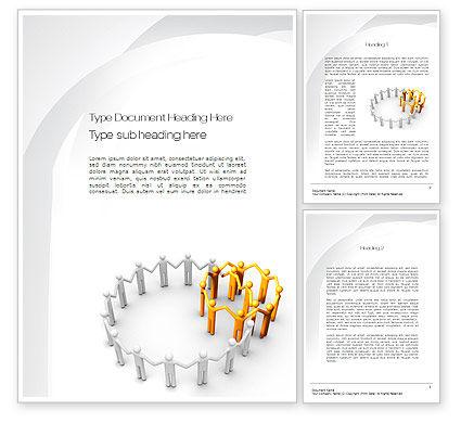 Internal and External Word Template, 10776, Business Concepts — PoweredTemplate.com
