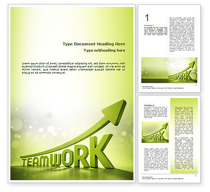 Careers/Industry: Teamwork Development Word Template #10777