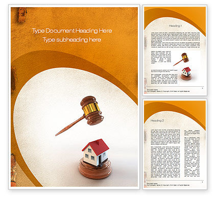 Property Law Word Template, 10778, Legal — PoweredTemplate.com