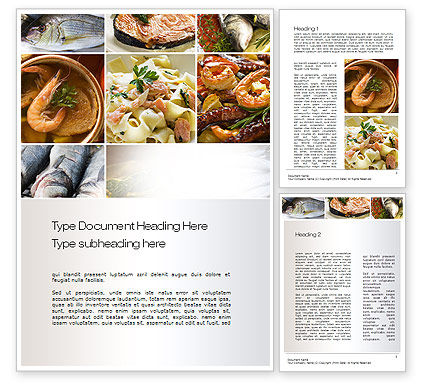 Sea food recipes word template 10779 for Template for recipes in word