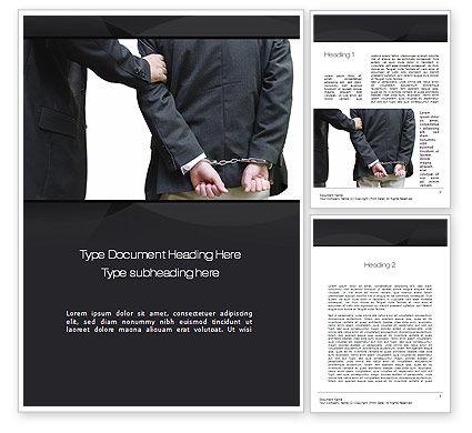 Defendant Word Template, 10780, Legal — PoweredTemplate.com