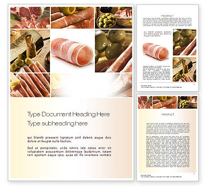 Charcuterie Recipes Word Template, 10785, Food & Beverage — PoweredTemplate.com