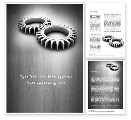 Interlocking Gears Word Template