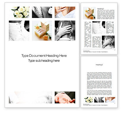 Holiday/Special Occasion: Wedding Moments Word Template #10794