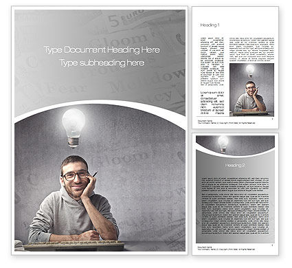 Sponsored Posts Word Template, 10801, Careers/Industry — PoweredTemplate.com