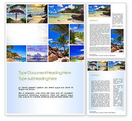 Seychelles Word Template, 10802, Nature & Environment — PoweredTemplate.com