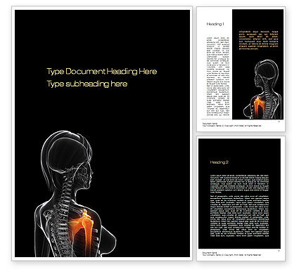 Medical: Shoulder Pain Word Template #10805