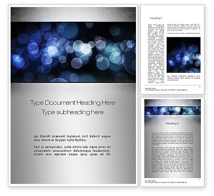 Abstract/Textures: Blue Spots Word Template #10810