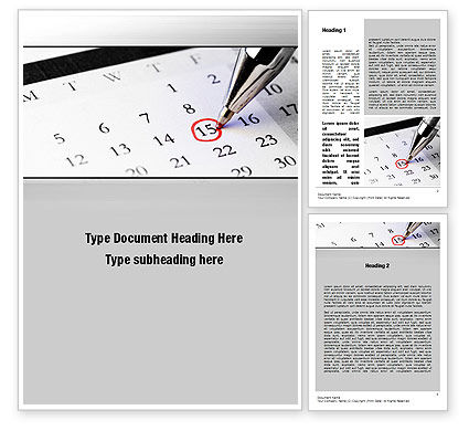 Tax Time Word Template, 10811, Financial/Accounting — PoweredTemplate.com