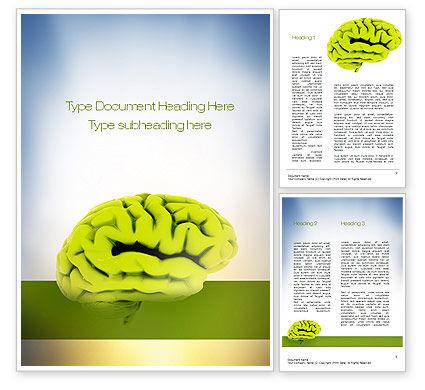 Cerebral Cortex Word Template, 10815, Medical — PoweredTemplate.com